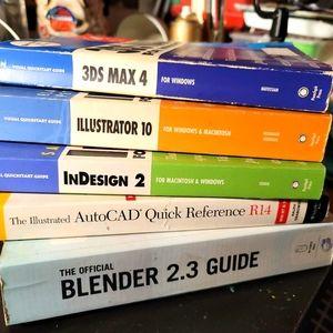 Stack of Design & CAD Tutorial Books